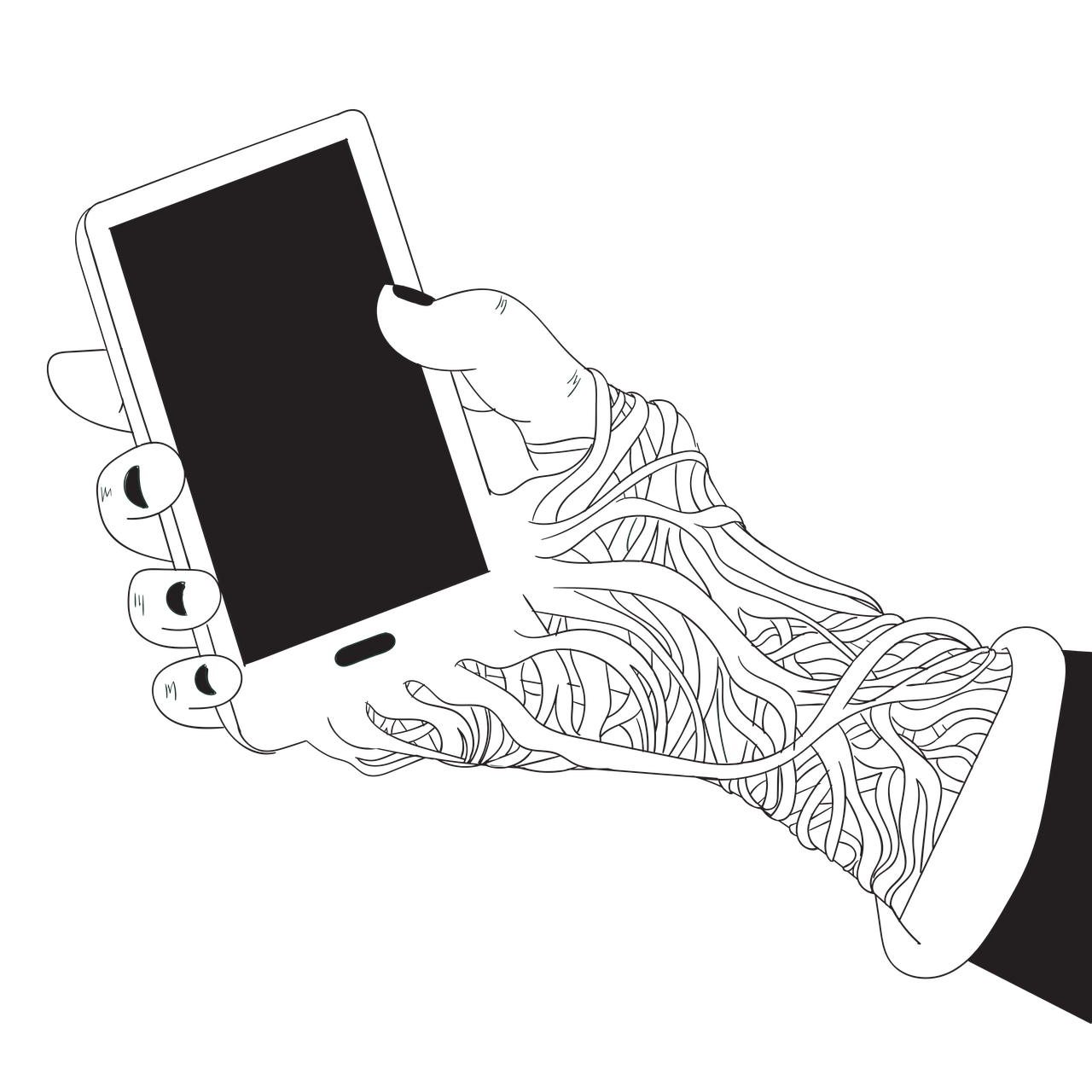 Phone Screen Hand Addiction Social  - Saydung89 / Pixabay